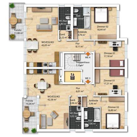 Rent this 3 bed apartment on 60433 Frankfurt
