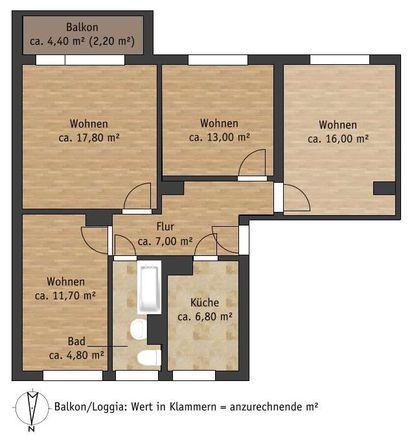Rent this 4 bed apartment on Julius-Fucik-Straße 51 in 01796 Pirna, Germany