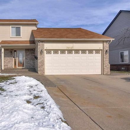 Rent this 3 bed house on 31647 Hiddenbrook Drive in Chesterfield Township, MI 48047