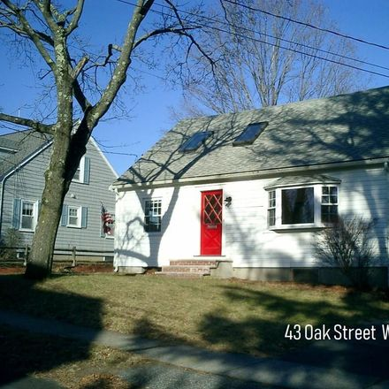 Rent this 3 bed apartment on 43 Oak Street in Winchester, MA 01890-2885