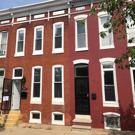 Rent this 3 bed townhouse on 417 North Collington Avenue in Baltimore, MD 21231