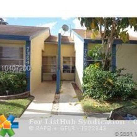 Rent this 2 bed townhouse on 7366 Northwest 34th Street in Lauderhill, FL 33319