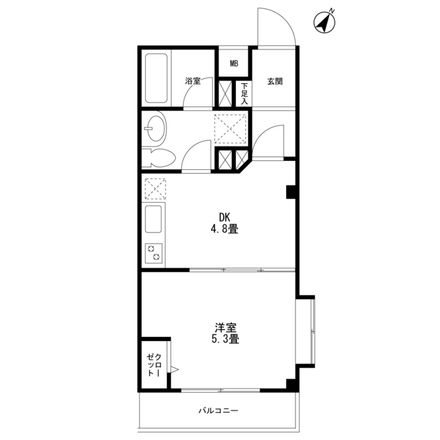 Rent this 1 bed apartment on unnamed road in Eharacho 3-chome, Nakano