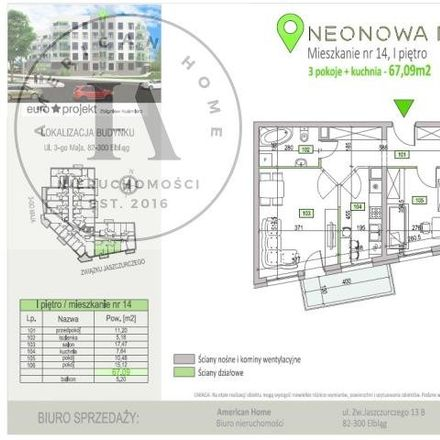 Rent this 3 bed apartment on Neonowa 3 in 82-300 Elbląg, Poland