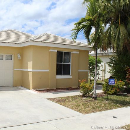 Rent this 3 bed house on 3351 Bonito Lane in Margate, FL 33063