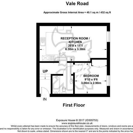 Rent this 1 bed apartment on Kwik-Fit Weybridge in Vale Road, Elmbridge KT13 9NT