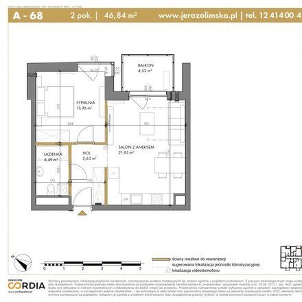 Rent this 2 bed apartment on Jerozolimska 6 in 30-555 Krakow, Poland