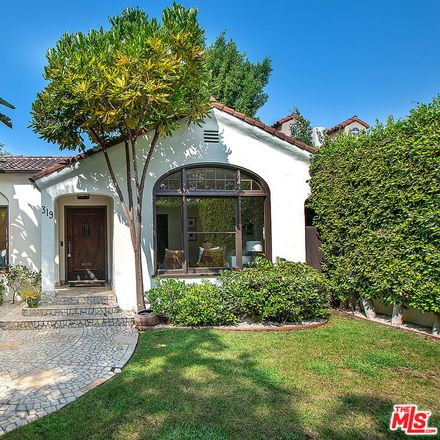 Rent this 4 bed house on 319 South Sycamore Avenue in Los Angeles, CA 90036
