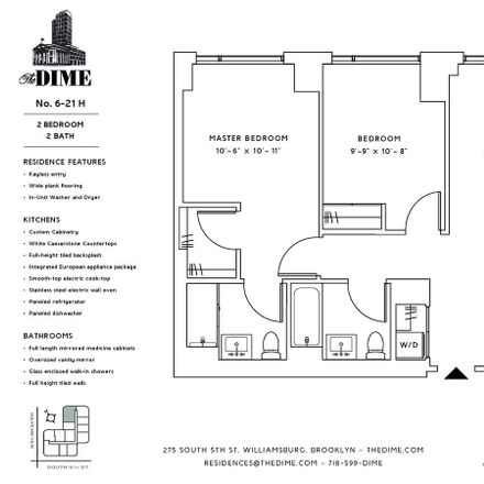 Rent this 2 bed apartment on 275 S 5th St in Brooklyn, NY 11211