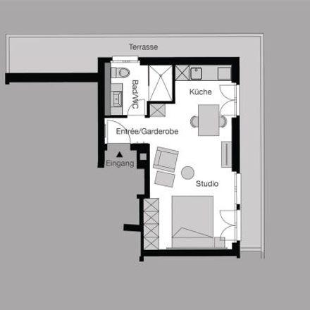 Rent this 1 bed apartment on Ceresstrasse 1 in 8008 Zurich, Switzerland