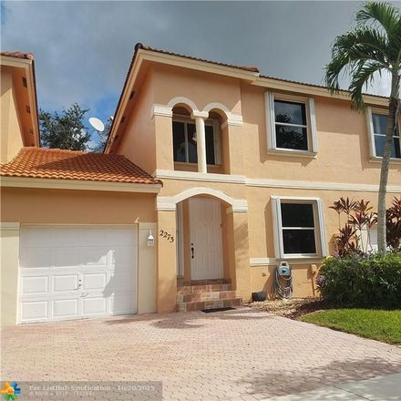 Rent this 3 bed townhouse on 2273 Northwest 161st Avenue in Pembroke Pines, FL 33028