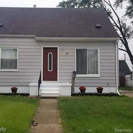 Rent this 3 bed house on 385 West Barrett Avenue in Madison Heights, MI 48071