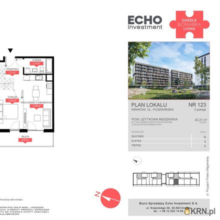 Rent this 2 bed apartment on Cechowa 102 in 30-685 Krakow, Poland