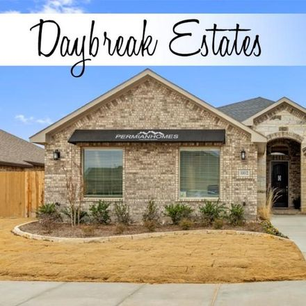 Rent this 3 bed house on 1102 Daybreak Way in Midland, TX 79705