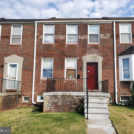 Rent this 3 bed townhouse on 3610 Erdman Avenue in Baltimore, MD 21213