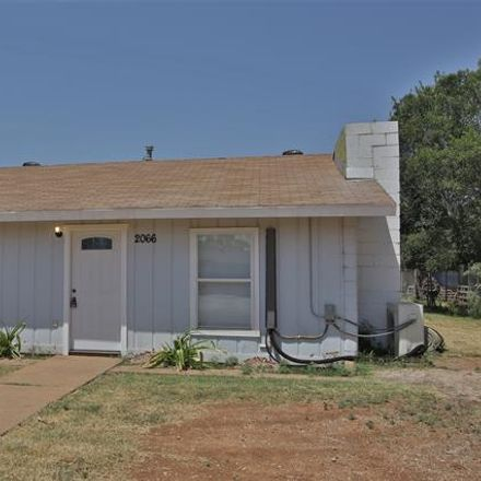 Rent this 2 bed house on 2066 Burger Street in Abilene, TX 79603