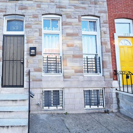 Rent this 3 bed townhouse on 1536 North Bond Street in Baltimore, MD 21213