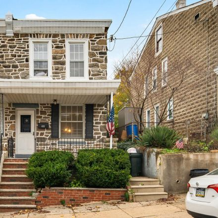 Rent this 3 bed townhouse on 4722 Silverwood Street in Philadelphia, PA 19128