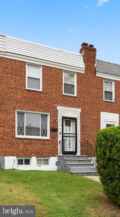Rent this 3 bed townhouse on 4110 Raymonn Avenue in Baltimore, MD 21213