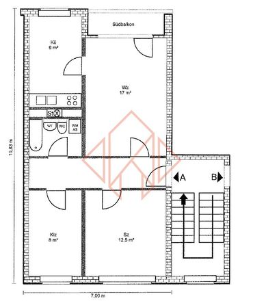 Rent this 2 bed apartment on Ringstraße 68 in 18273 Güstrow, Germany