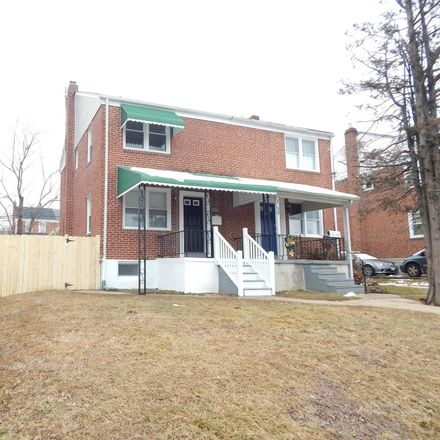 Rent this 3 bed townhouse on 3236 East Northern Parkway in Baltimore, MD 21214