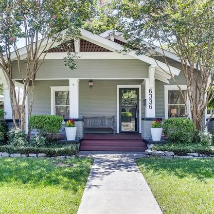 Rent this 3 bed house on 6336 Goliad Avenue in Dallas, TX 75214