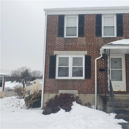 Rent this 3 bed duplex on 224 6th Street in Whitehall, PA 18052