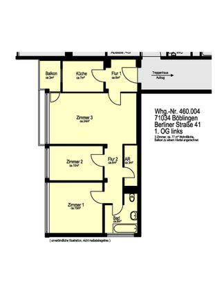 Rent this 3 bed apartment on Berliner Straße 41 in 71034 Böblingen, Germany