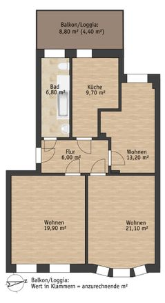Rent this 3 bed apartment on Hauptstraße 17 in 01796 Pirna, Germany