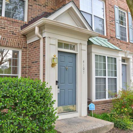 Rent this 2 bed condo on 4107 Lexington Court in Fairfax, VA 22030