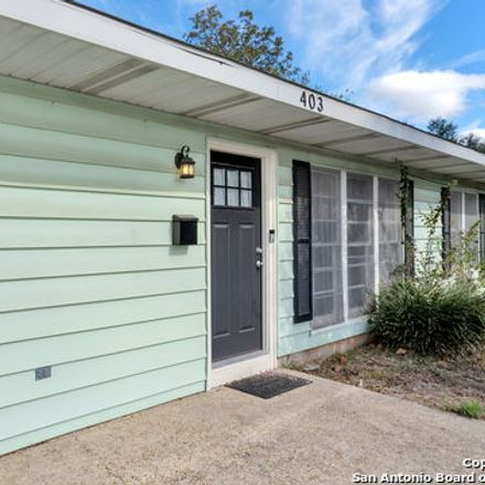 Rent this 3 bed house on 403 Nash Boulevard in San Antonio, TX 78223