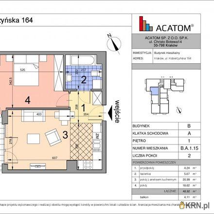 Rent this 2 bed apartment on Lewiatan in Kobierzyńska, 30-382 Krakow