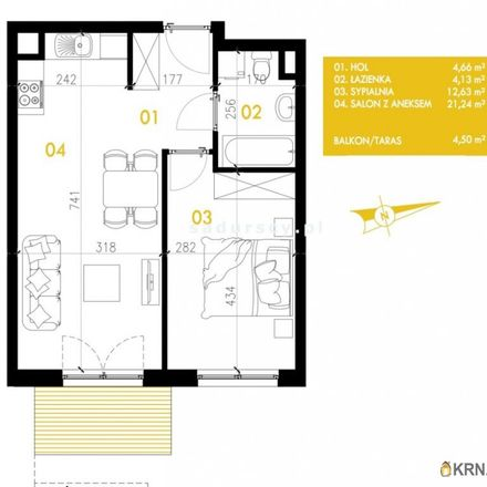 Rent this 2 bed apartment on Przewóz 32 in 30-715 Krakow, Poland