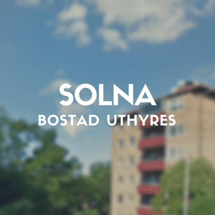 Rent this 1 bed apartment on Västra vägen in 169 61 Solna kommun, Sweden