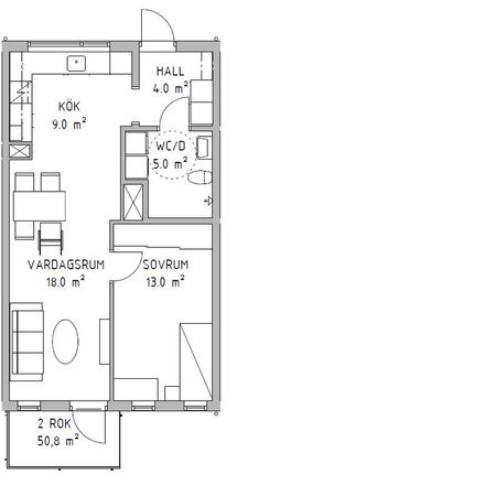 Rent this 2 bed apartment on Hammarshus in Blekingevägen, 291 28 Hammar
