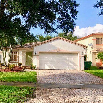 Rent this 3 bed house on 12481 SW 45th Drive in Miramar, FL 33027